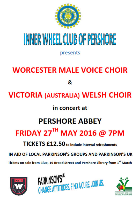 Parkinson's Concert - Joint with Victoria Welsh MVC